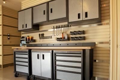 Photo of neat garage