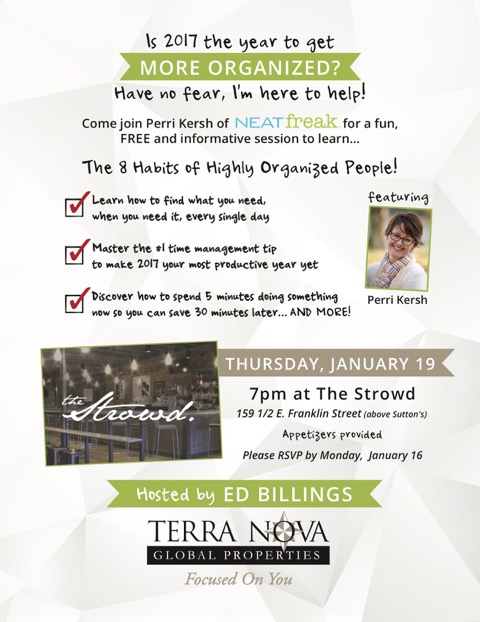 Upcoming Neat Freak event!