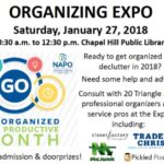 Organizing Expo at The Chapel Hill Library